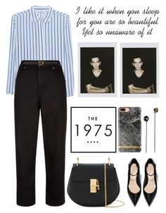 """ Healy "" by chassidys ❤ liked on Polyvore featuring iHeart, Jaeger, Chloé, Yves Saint Laurent and Merkury"