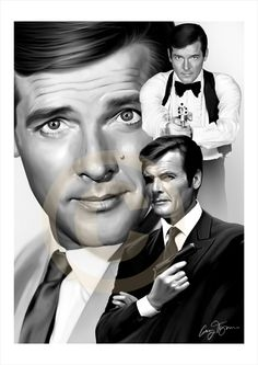 Roger Moore Tony Curtis, Roger Moore, Sean Connery, British Actors, James Bond, His Eyes, Giclee Print, How To Look Better, Characters