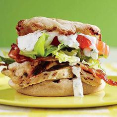 Chicken Club Sliders with Ranch Dressing - Rachael Ray Every Day