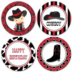 Printable Cupcake Toppers Horse Birthday Parties, Cowboy Birthday Party, Cowgirl Party, Birthday Party Themes, Cowboy Theme, Cowboy And Cowgirl, Cupcake Toppers Free, Cumple Toy Story, Wild West Party