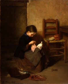 Pierre-Édouard Frère (1819- 1886) - The Little Dressmaker