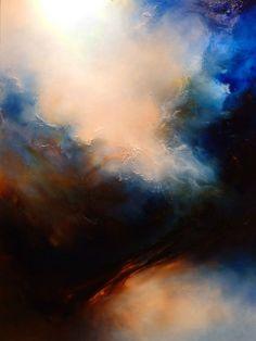 Gran pintura al óleo abstracta por Simon por SimonkennysPaintings