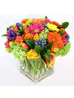 Bright flower centerpiece