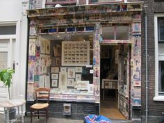 Amsterdam storefront Country Store Display, Store Fronts, Amsterdam, Loft, Bed, Furniture, Home Decor, Decoration Home, Stream Bed