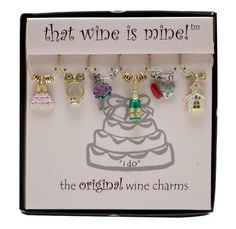 """""""I Do"""" Wine Charms, Painted Wine Things"""
