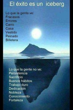El éxito es un iceberg