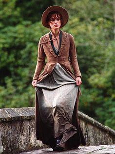 Keira Knightley as Elizabeth Bennet - Pride & Prejudice Keira Knightley, Pride & Prejudice Movie, Jane Austen Movies, Anna Karenina, Movie Costumes, Fashion Plates, Costume Design, Celebs, Winchester