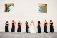 Modern Elegant Pink and Black Wedding