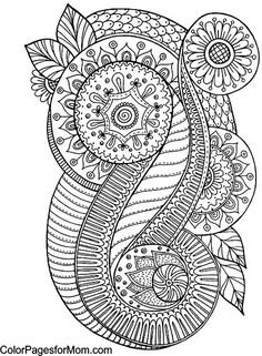 **FROM MY BOARD: Abstract, Zentangles, Paisley  etc to Color*** Paisley Abstract Doodle Zentangle Coloring pages colouring adult detailed advanced printable Kleuren voor volwassenen coloriage pour adulte anti-stress kleurplaat voor volwassenen