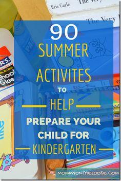 90 Summer Activities to Help Prepare Your Child for Kindergarten