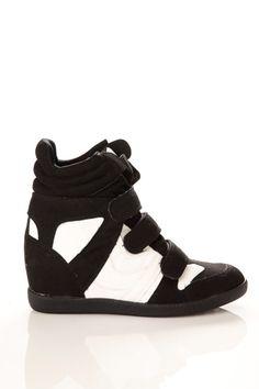 3 Velcro Hidden Wedge Sneakers