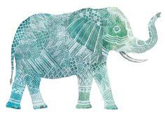 Elephant Art Print 8x10 by AmeliaHerbertson on Etsy, $25.00