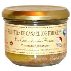 Rilletes de canard au foie gras 180 gr - recette gourmande - cuisinée au foie gras - 6.94€