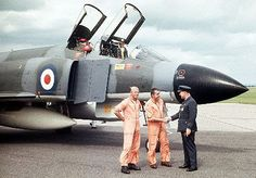 Group Captain Stanley Mason receives the RAF's first Phantom at RAF Aldergrove, July 1968 Air Force Aircraft, Fighter Aircraft, Fighter Jets, Military Jets, Military Aircraft, Uk Arms, War Jet, F4 Phantom, Royal Air Force
