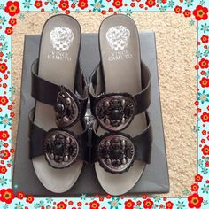 Vince Camuto Wedge Sandal Like new in great shape Vince Camuto Shoes Wedges
