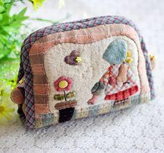蔷薇朵朵 先染拼布材料包 手工布艺DIY材料包 小苏的花园收纳包-淘宝网