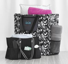 Thirty One Spring 2013  Room for Two Utility love it used with a pocket a tote to keep guest linens.