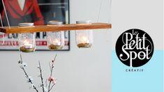 Cette semaine, Ismérie propose de réaliser un luminaire suspendu pour votre terrasse à l'aide de pots Mason.
