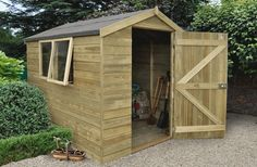 Nice size shed for the garden or as a small hobby workshop at 6 x 8 sadly it is not big enough for a snooker table!