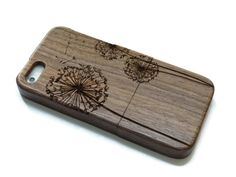 wooden laser-engraved iphone 5 cases - Dandelion    Beautiful and elegant wooden case designed to protect your iphone 5. This case is crafted