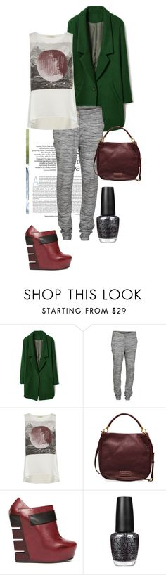 """""""Unbenannt #551"""" by akchen ❤ liked on Polyvore featuring Vila Milano, AllSaints, Marc by Marc Jacobs, Alain Quilici and OPI"""