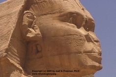 After being damaged: Sphinx of Giza -- Its Nose, Lips, Gender, and Ethnicity -- www.SphinxOfGiza.com