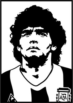 Maradona Football, Ronaldo Football, Creative Portrait Photography, Creative Portraits, Maradona Tattoo, Stencil Art, Stencils, Messi Drawing, Chanel Wallpapers