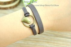 Bronze Cuff Bracelet Bird BraceletBrown leather by BeautifulShow, $2.20 Beautiful handmade leather jewelry