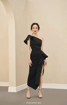 Belted Blazer Midi Dress One-shoulder Draped Top Casual Dresses, Short Dresses, Fashion Dresses, Formal Dresses, Chiffon Dresses, Prom Party Dresses, Evening Dresses, Black One Shoulder Dress, Skirt Suit Set