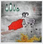 Un tapis rouge (Estampes de Naoko TSURUDOME Naoko TSURUDOME)