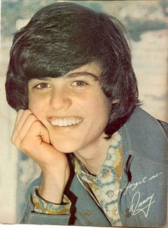 Donny Osmond... and his purple socks :)  My heartthrob for years......................