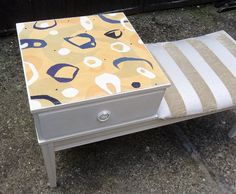 Vintage Telephone Table Seat Retro Mid by ShabbyHomeAndVintage