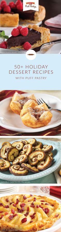 Start your celebrations off on a sweet note with this collection of holiday dessert recipes. Pepperidge Farm® Puff Pastry Sheets make the perfect base for sweet treats like Chai Spiced Apple Turnovers, Inside Out Caramel Apples, and Caramel Banana Tarts. Click here to learn more.