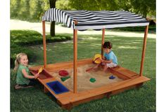 One Kings Lane - Playtime! - Outdoor Sandbox w/ Canopy