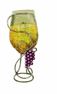 Tripar White Wine Glass Wall Art by Tripar. $17.50. Antique metal with colored grapes and leaves add deminision to this wall art. 13-1/4-inch h by 5-inch w by 1-1/4-inch d. Use with green wine bottle, also feature for the perfect wine statement in your kitchen or wine cellar. White wine glass trimmed with hand painted grapes and grape leaves.