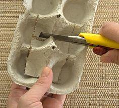 Como fazer rosas com caixas de ovos, dica de artesanato
