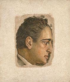 """Pantelis Prevelakis""  by Fotis Kondoglou (1938 - 1939) fresco Fresco, Kai, Medieval Knight, Greek Art, Face Art, Art Faces, Conceptual Art, Printmaking, Museum"