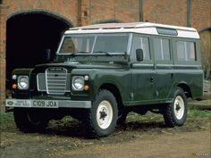 Series III Land Rover in Coningston Green - K's favorite car ever.