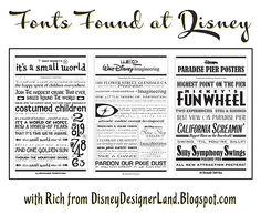 Fonts Found at Disney