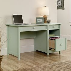 southern enterprises kapri nailhead writing desk white writing