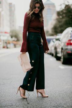 Parisienne: Burgundy Looks