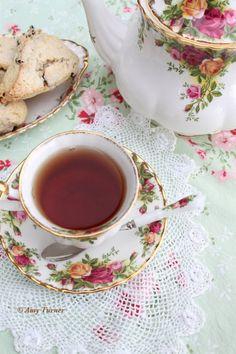 Tea time with  Royal Albert