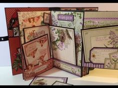 Made an other mini album with the gorgeous Time to Flourish paper collection from Graphic 45.Used black Bazzill cardstock for the 6 pages and it is bounded w...
