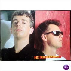 Pet Shop Boys pin up poster back to back serious face