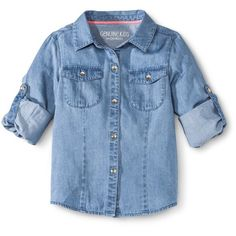 Genuine Kids Infant Toddler Girls' Skirtall Chambray Collection 2014 ($9.60) ❤ liked on Polyvore featuring kids, baby clothes, baby, baby girl and baby tops