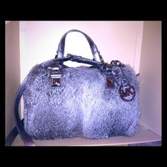 Limited Edition Rabbit Fur satchel. MK MK handbag w  tags on never been used 991c792a93e90