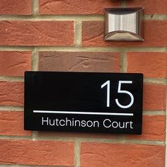Contemporary House Sign Modern Door Number Plaque x Door Number Plaques, Door Numbers, House Numbers, House On A Hill, House Front, Personalized Signs For Home, Mars Hill, Name Plates For Home, Dark Doors