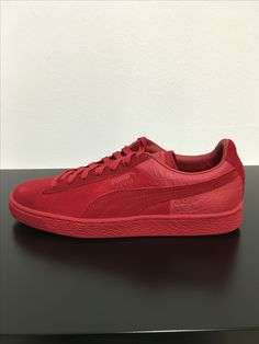 Puma suede Classic emboss red