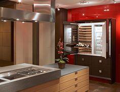 refrigerator inside the kitchen cupboard