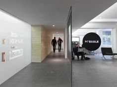 Possible, The Johnson Building, London. Waiting area in reception